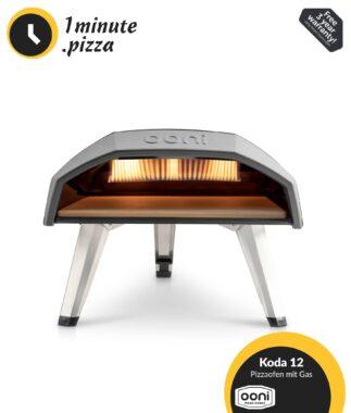 Ooni Koda 12 Gas Pizzaofen | 500 °C Backofen | Perfekte Steinofen Pizza in 1 Minute