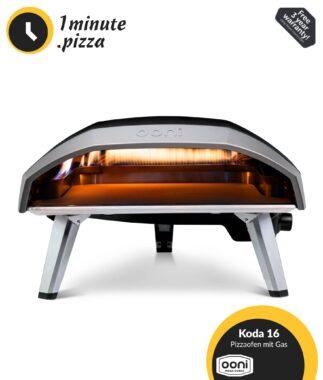 Ooni Koda 16 Gas Pizzaofen   500 °C Backofen   Perfekte Steinofen Pizza in 1 Minute