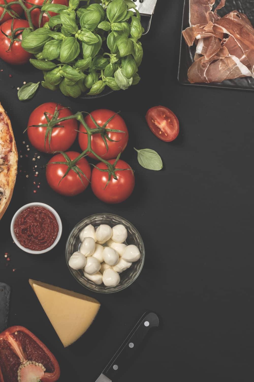 Zutaten Pizza Menü